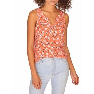 Sanctuary Craft Sleeveless Top Orange Spring Fever